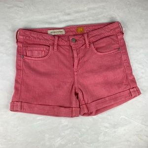 Pilcro and the Letterpress Coral Stet Shorts Sz 29